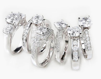 Diamond Rings for diamond pawning in Indianapolis, IN.